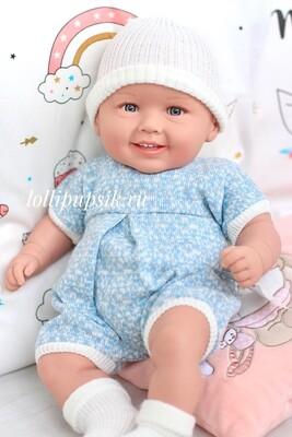Кукла мягконабивная Manolo Dolls DIANA (голубой наряд) 50 см