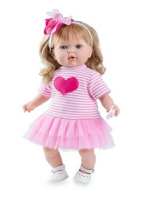 Кукла Тита (Tita Natale) в розовом платье, 45 см