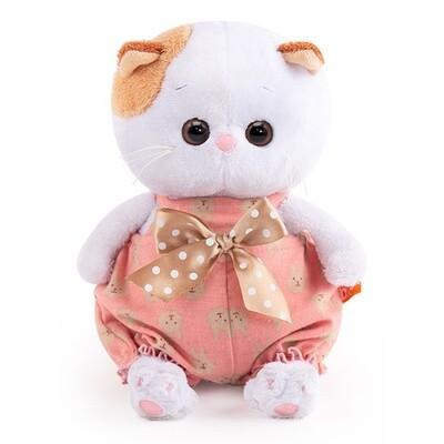 BUDI BASA Мягкая игрушка Кошечка Ли-Ли BABY в песочнике с бантом - 20 см в положении сидя
