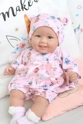 Кукла мягконабивная Manolo Dolls DIANA 50 см (в розовом)