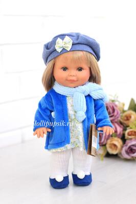 Lamagik S.L. (Magic Baby) Кукла Бетти в голубом пальто 30 см с ароматом карамели