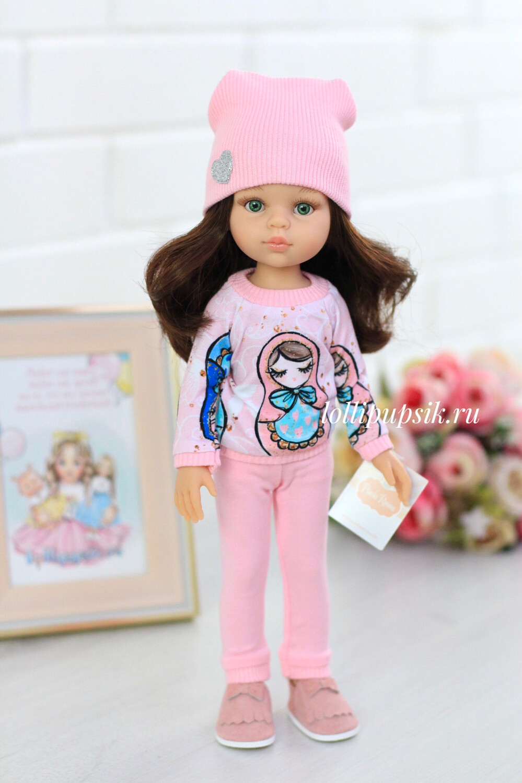 Кукла Кэрол с волосами до пояса в модном наряде, с зелеными глазами (Паола Рейна), 34 см