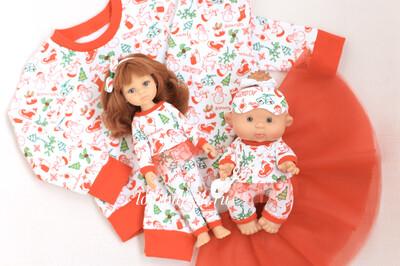 Фэмилилук пижамы «снеговики»