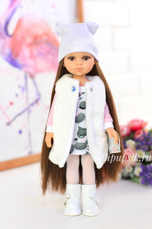 Кэрол Рапунцель с волосами до щиколоток в модной зимней одежде (Паола Рейна), 34 см