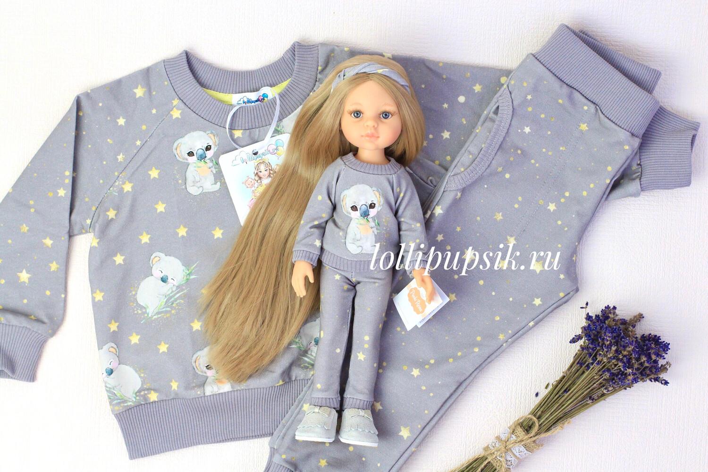 Фэмилилук «Коалы», костюм на девочку + костюм на куколку
