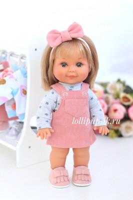 Кукла Бетти с ароматом карамели, 30 см (в вельветовом сарафане) Lamagik Magic Baby
