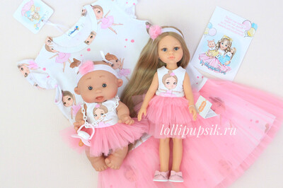 Фэмилилук «Балеринки», платье на девочку + платье на куколку