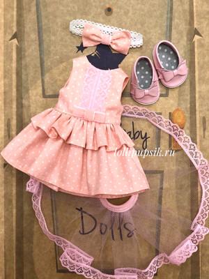 Наряд для куклы Paola Reina с колготками 32-34 см
