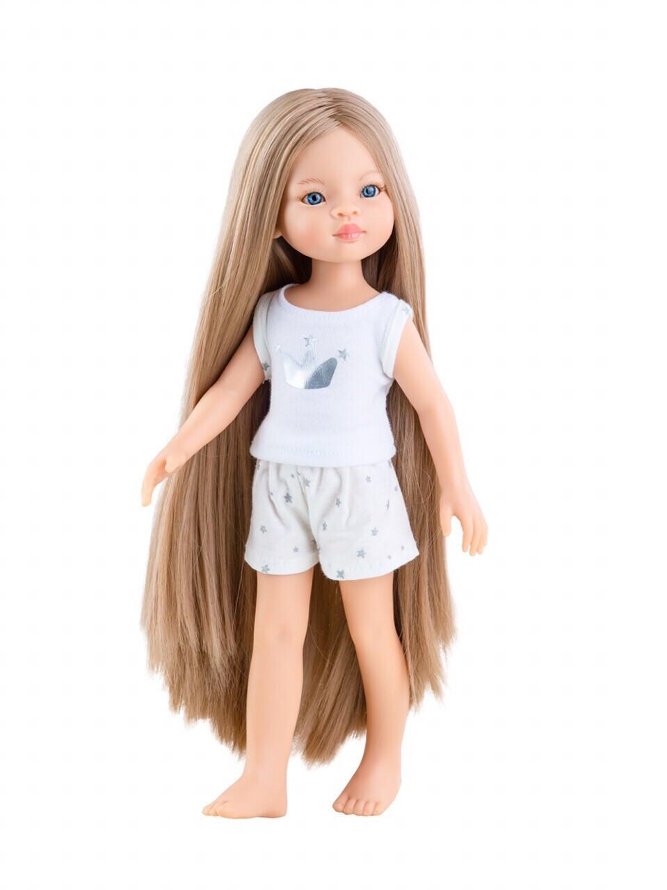 Кукла Маника Рапунцель с длинными волосами в пижаме (Паола Рейна), 34 см