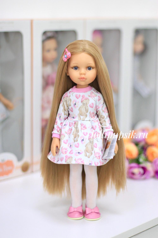 Кукла Карла Рапунцель с серыми глазами в одежде Паола Рейна , 34 см