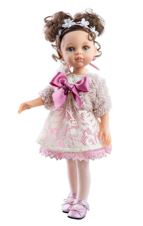 Кукла Кэрол с волосами до плеч в нежном наряде (Паола Рейна), 34 см
