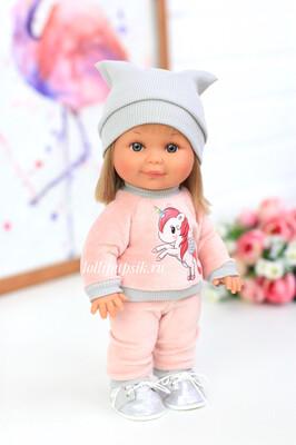 Кукла Бетти с ароматом карамели, 30 см (в велюровом костюме с единорогом) Lamagik Magic Baby