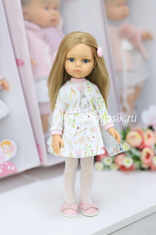 Кукла Карла с голубыми глазами, волосами до пояса в платье (Паола Рейна), 34 см