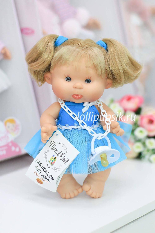 Ванильный пупс с волосами Nines d'Onil светлые волосы - 26 см