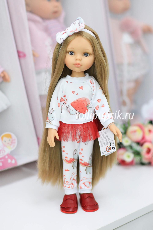 Кукла Карла Рапунцель с серыми глазами в модном костюме, Паола Рейна , 34 см