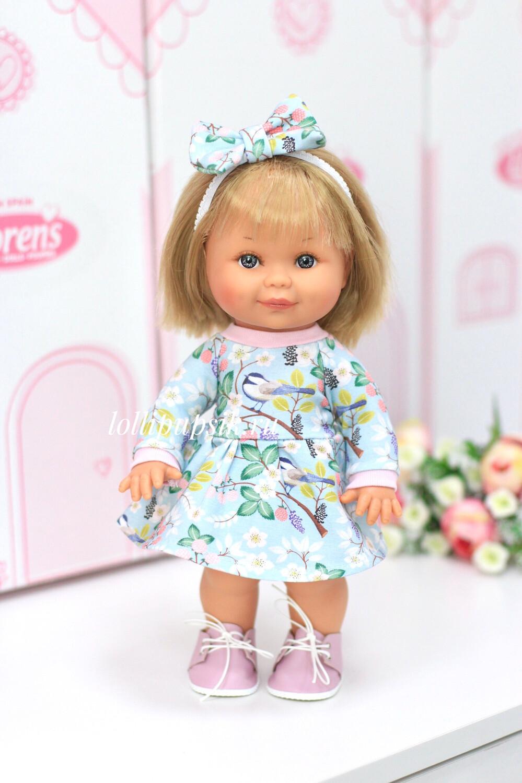 Кукла Бетти с ароматом карамели, 30 см (в платье с птичками) Lamagik Magic Baby