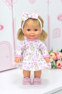 Кукла Бетти с ароматом карамели, 30 см (в платье с мишками) Lamagik Magic Baby