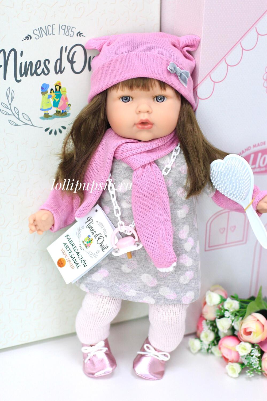 Кукла Тита с длинными тёмными волосами, 45 см