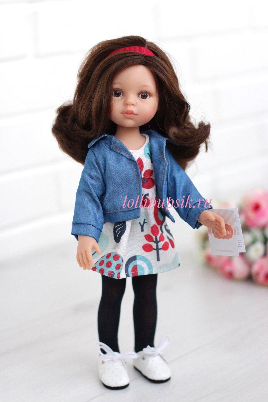 Кукла Кэрол с волосами до плеч в модной одежде (Паола Рейна), 34 см