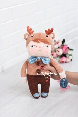 Мягкая игрушка Metoo Сплюшка Angela Retro мальчик с ушками оленя - 42 см