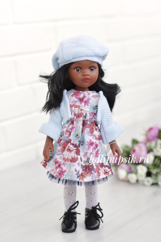 Кукла Нора из серии «подружки» с волосами по пояс, в платье (Paola Reina), 34 см