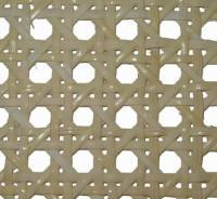 "(OUT OF STOCK) 7/16""  fine fine bleached prewoven cane webbing 16"" wide. Sold by the inch. R-8216"