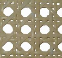 "(OUT OF STOCK) 5/8"" medium bleached prewoven cane webbing 16"" wide. Sold by the inch. R-8416"