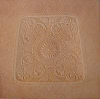 Small LEATHER REPLACEMENT SEAT - Sunflower Pattern (OUT OF STOCK) L-9024