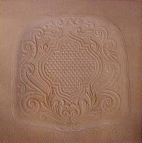 LEATHER REPLACEMENT SEAT - Sheild Pattern (OUT OF STOCK) L-9040