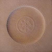 LEATHER REPLACEMENT SEAT - Round Fleur-de-Lis Pattern (OUT OF STOCK) L-9070
