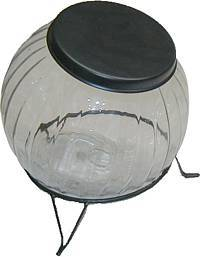 (OUT OF STOCK) -- Colonial Pumpkin Sugar Jar - Glass C-1570P