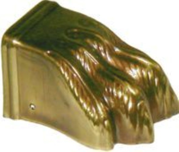 Steel Clawfoot Leg Cap with Antique Brass Finish AD-2324