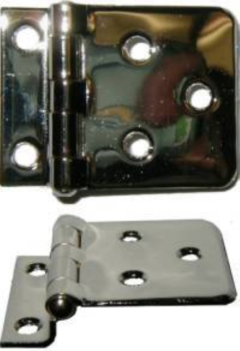 Sellers Cabinet Offset Hinge Nickel Plated Brass
