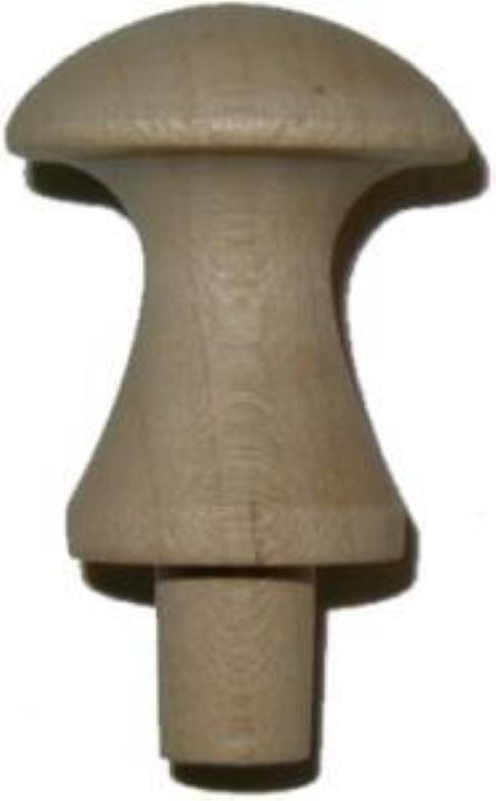 "Maple Wood Grain Shaker Knob - 1-1/8"" W5-0379"