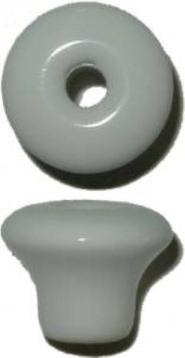 """White Porcelain Round Knob - 1"""" P-0394"""