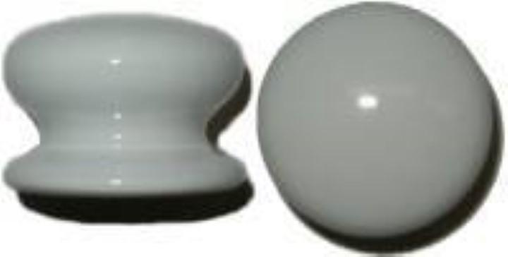 """White Porcelain Round Knob - 2"""" P-0397"""
