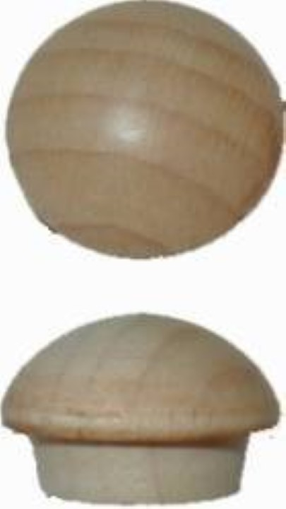 "Screw Hole Buttons - Maple - 7/16"" W1-6537"