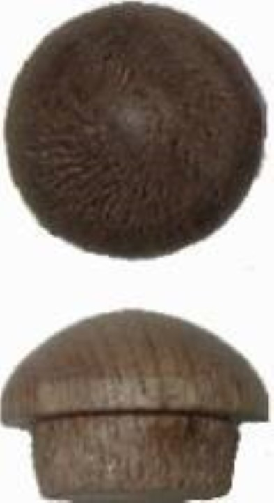 "(OUT OF STOCK) -- Screw Hole Buttons - Walnut - 3/8"" W2-6533"