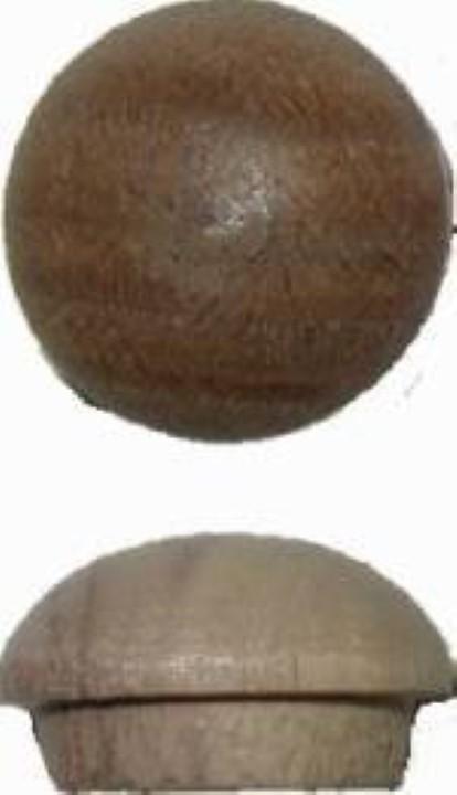 """Screw Hole Buttons - Walnut - 1/2"""" W2-6534"""