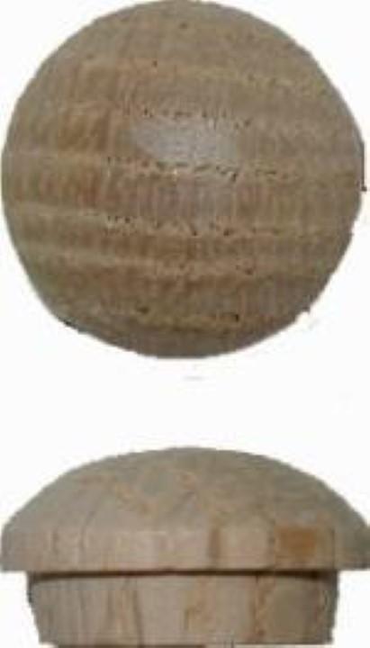 """Screw Hole Buttons - Oak - 1/2"""" W3-6534"""