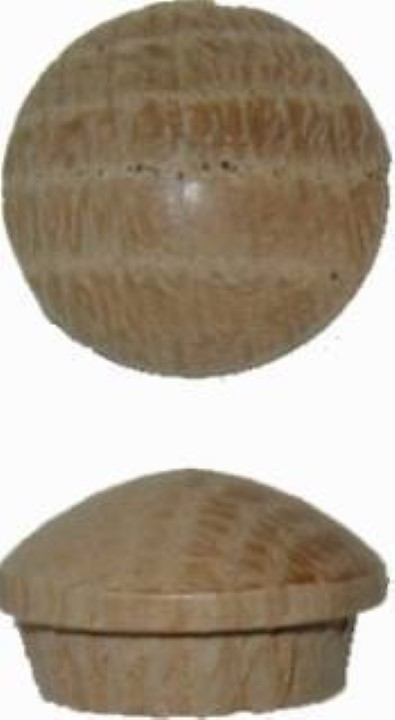 """Screw Hole Buttons - Oak - 5/8"""" W3-6535"""