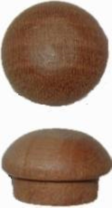 """Screw Hole Buttons - Cherry - 3/8"""" W4-6533"""