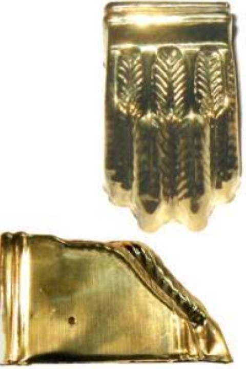 Stamped Brass Claw foot toe leg end cap B-2333