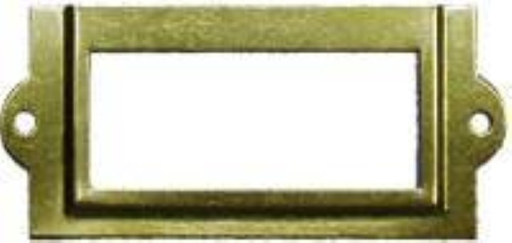 File Cabinet Card Holder - Brass Plated D-3109