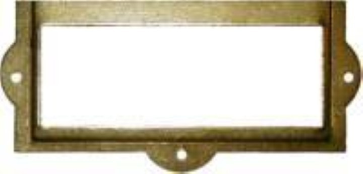 File Cabinet Card Holder - Brass Plated D-3129
