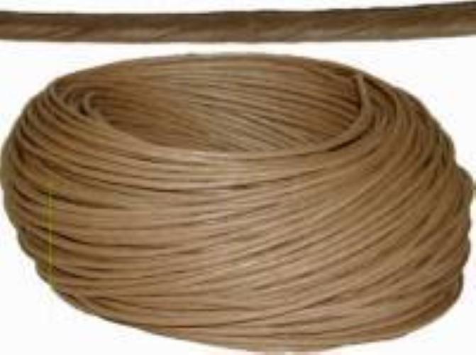 "Coil of Kraft Brown ART FIBER RUSH - 3/32""diameter 960 feet H-7303"