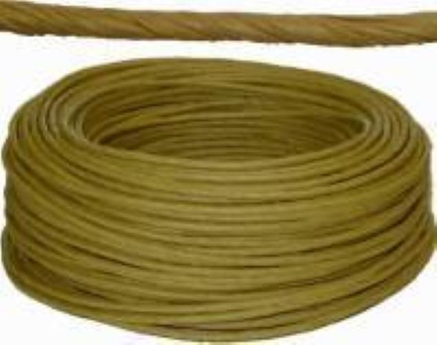 "Coil of Golden Brown ART FIBER RUSH - 5/32""diameter 400 feet H-7305"