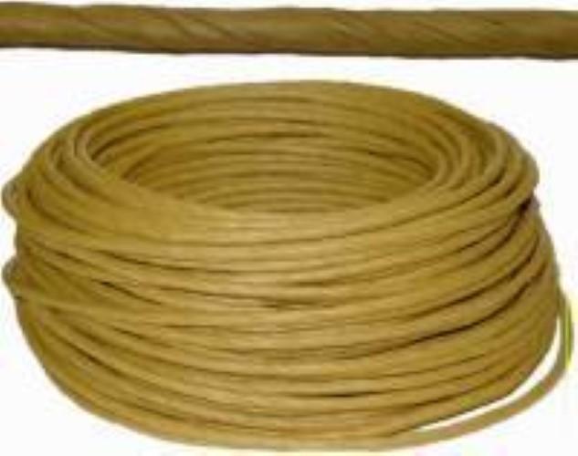 "Coil of Golden Brown ART FIBER RUSH - 6/32""diameter 320 feet H-7306"