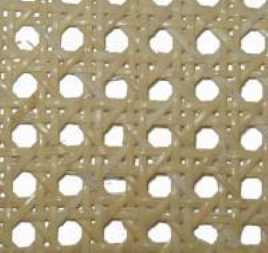 "3/8"" super fine bleached pre-woven cane webbing 18"" wide. Sold by the inch. R-8118"