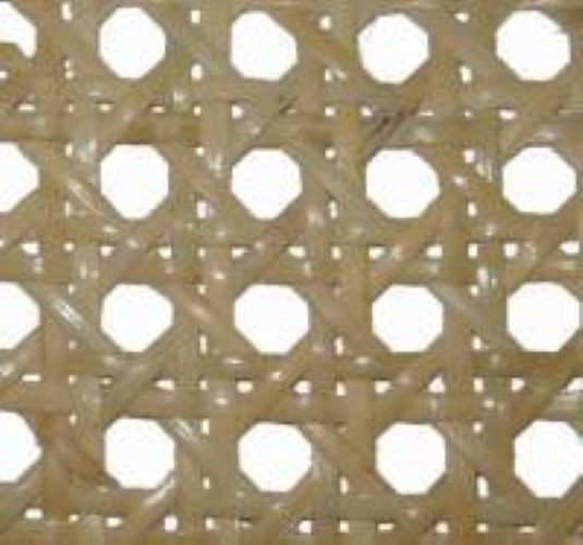 """1/2"""" fine bleached pre-woven cane webbing 18"""" wide. Sold by the inch. R-8318"""